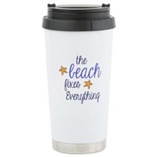 The Beach Fixes Everything Travel Mug