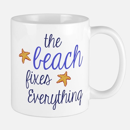 The Beach Fixes Everything Mug