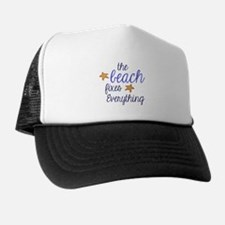 The Beach Fixes Everything Trucker Hat