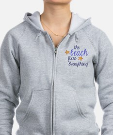 The Beach Fixes Everything Zip Hoodie