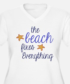 The Beach Fixes Everything Plus Size T-Shirt