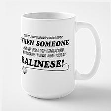 Balinese cat gifts Large Mug