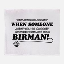 Birman cat gifts Throw Blanket