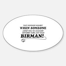 Birman cat gifts Decal