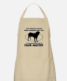 Mastiff dog funny designs Apron