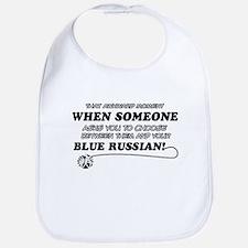 Blue Russian cat gifts Bib
