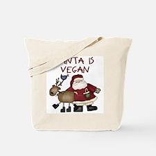Santa Is Vegan Tote Bag