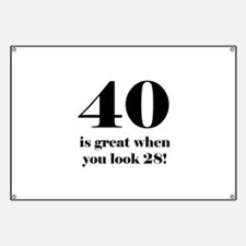 40th Birthday Humor Banner