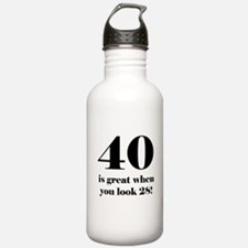 40th Birthday Humor Water Bottle