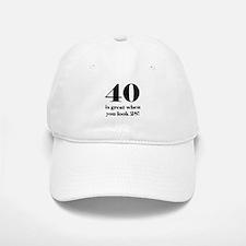 40th Birthday Humor Baseball Baseball Cap