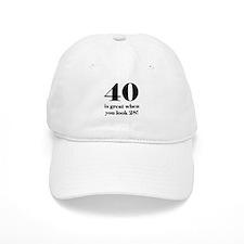 40th Birthday Humor Baseball Cap