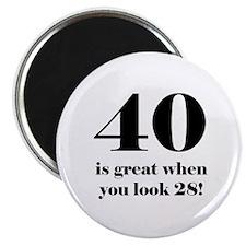 40th Birthday Humor Magnet