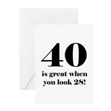 40th Birthday Humor Greeting Card