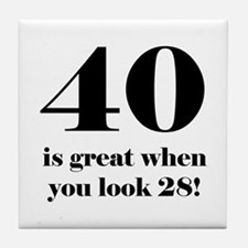 40th Birthday Humor Tile Coaster
