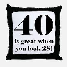 40th Birthday Humor Throw Pillow