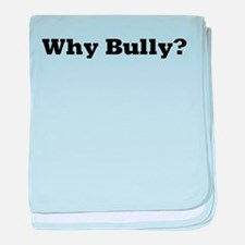Why Bully? baby blanket