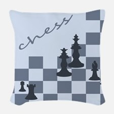 Chess King and Pieces Woven Throw Pillow