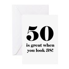 50th Birthday Humor Greeting Cards (Pk of 10)