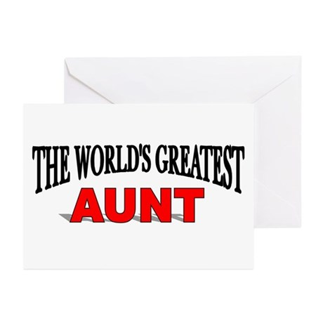 """""""The World's Greatest Aunt"""" Greeting Cards (Packag"""