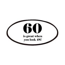 60th Birthday Humor Patches