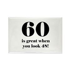 60th Birthday Humor Rectangle Magnet (100 pack)