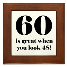 60th Birthday Humor Framed Tile