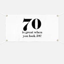 70th Birthday Humor Banner