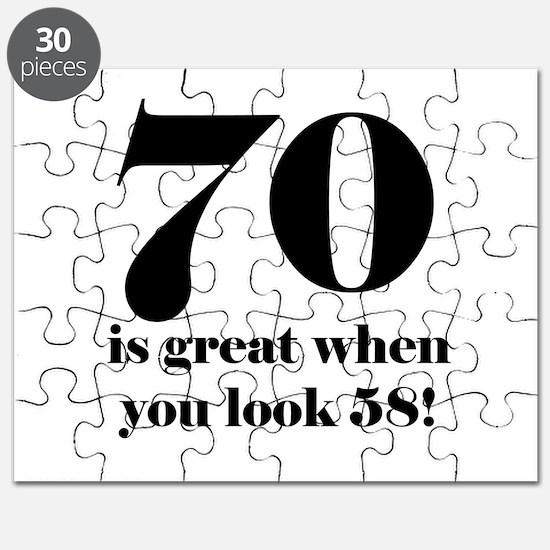 70th Birthday Humor Puzzle
