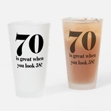 70th Birthday Humor Drinking Glass