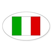 Italian Flag Black Border Decal