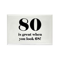 80th Birthday Humor Rectangle Magnet