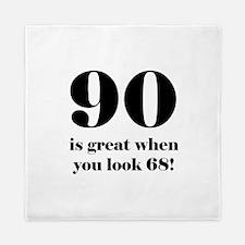90th Birthday Humor Queen Duvet