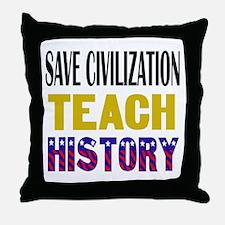 SAVE CIVILIZATION Throw Pillow