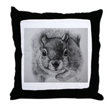 Squirrel Sketch 2 Throw Pillow