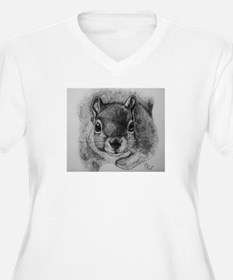 Squirrel Sketch 2 Plus Size T-Shirt