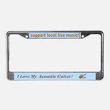 I Love Guitars! License Plate Frame