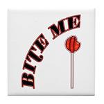 Bite Me Lollipop Tile Coaster