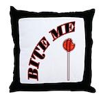Bite Me Lollipop Throw Pillow