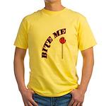 Bite Me Lollipop Yellow T-Shirt