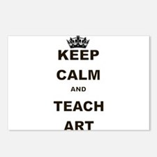 KEEP CALM AND TEACH ART Postcards (Package of 8)