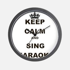 KEEP CALM AND SING KARAOKE Wall Clock
