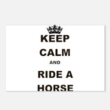 KEEP CALM AND RIDE A HORSE Postcards (Package of 8