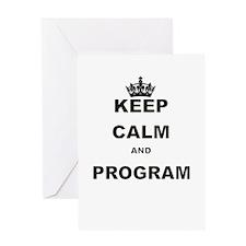 KEEP CALM AND PROGRAM Greeting Card