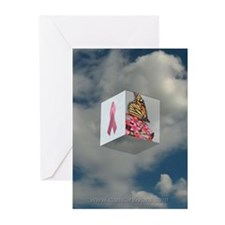 Pink Ribbon Greeting Cards (Pack of 6)