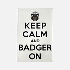 Keep Calm And Badger On Rectangle Magnet (10 pack)