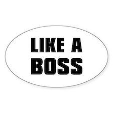 Like A Boss [bold] Decal