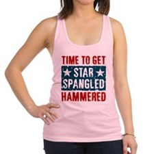 Star Spangled Hammered Racerback Tank Top
