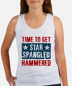 Star Spangled Hammered Women's Tank Top