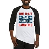 Star spangled hammered Long Sleeve T Shirts