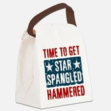 Star Spangled Hammered Canvas Lunch Bag